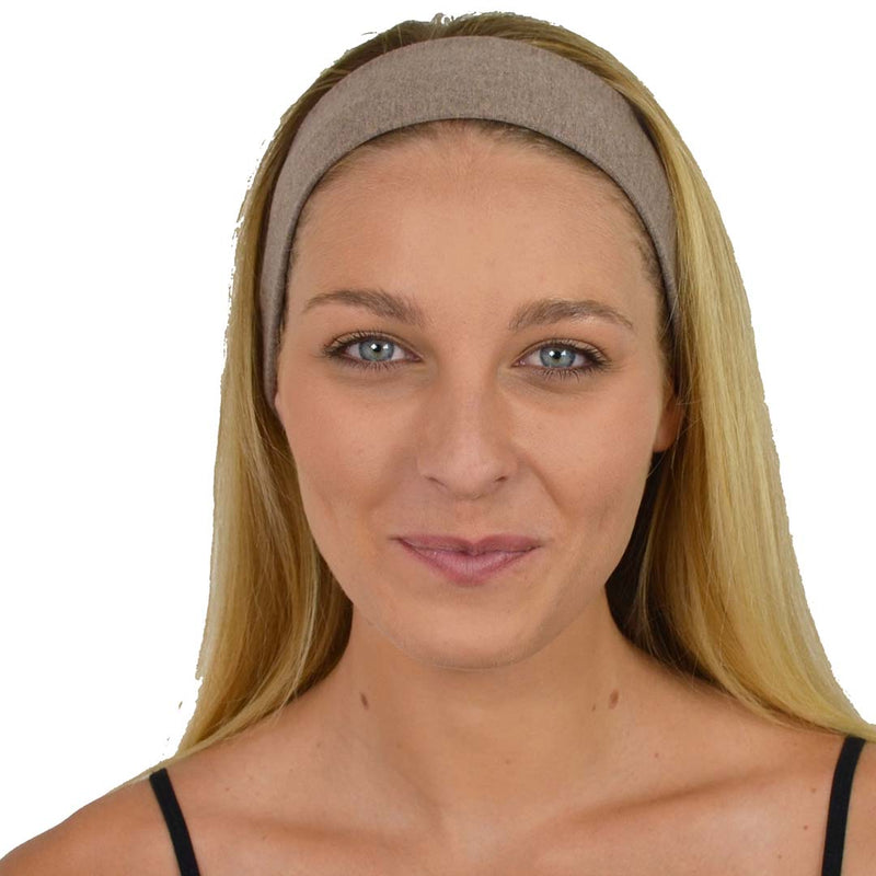 New! Cappuccino Cotton Non-Slip Headband