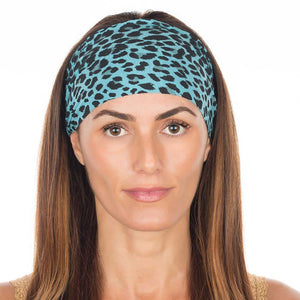 Blue Cheetah Cotton Non-Slip