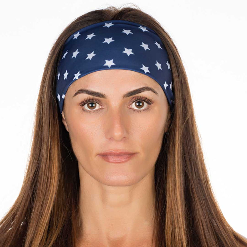 New! Navy Stars Cotton Non Slip
