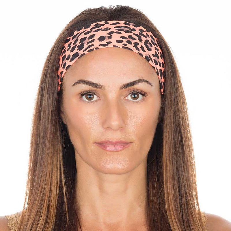 Orange Cheetah Cotton Non-Slip
