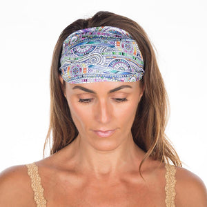 Groovy Cool Blue Non Slip Headband