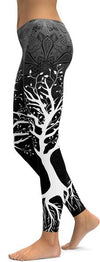 Dark Tree Of life Leggings