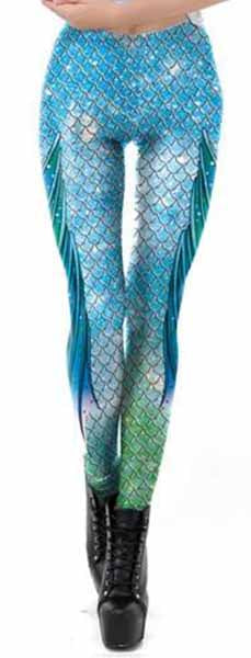 Mermaid Scale Leggings Light
