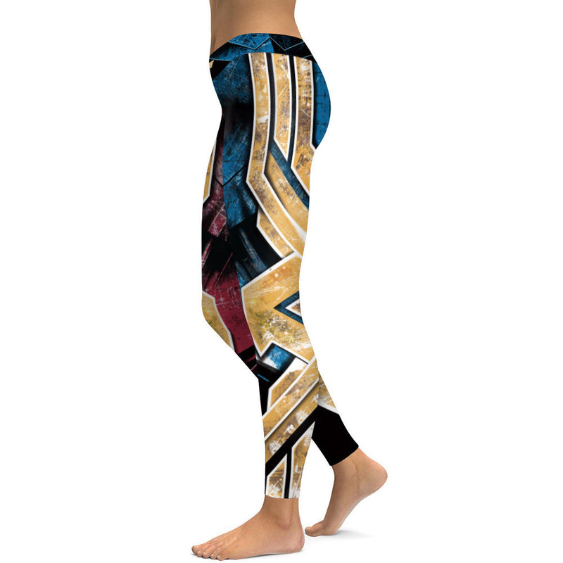 Red & Blue Wonder Woman Leggings