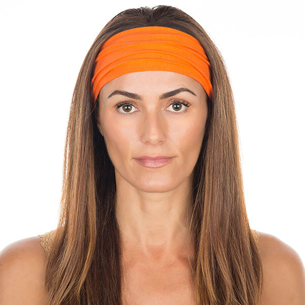 Orange Cotton Non-Slip Headband