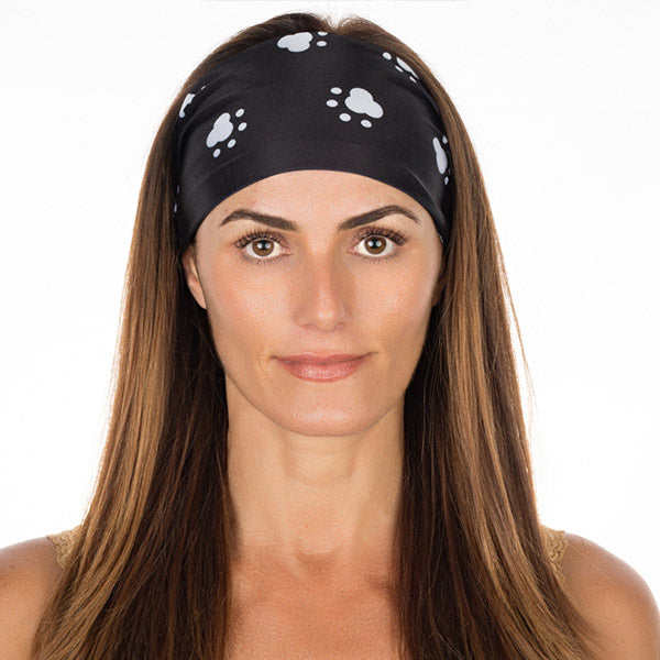 Black Dog Paws Non Slip Headband