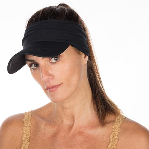 New & Improved Vero Visor Headband - Black on Black