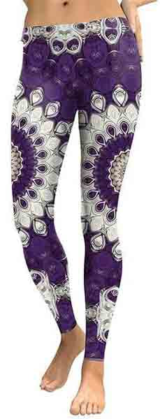 Black Mandala Flower Leggings