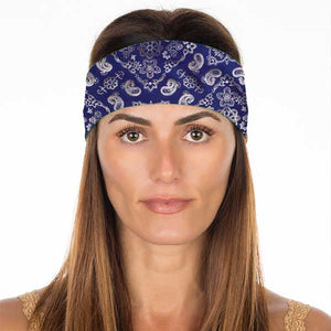 New! Navy Blue Bandana Non Slip Headband
