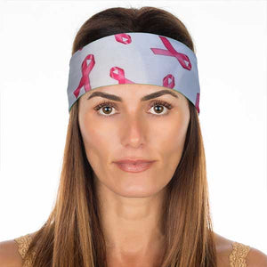 New! White Breast Cancer Awareness Non Slip Headband