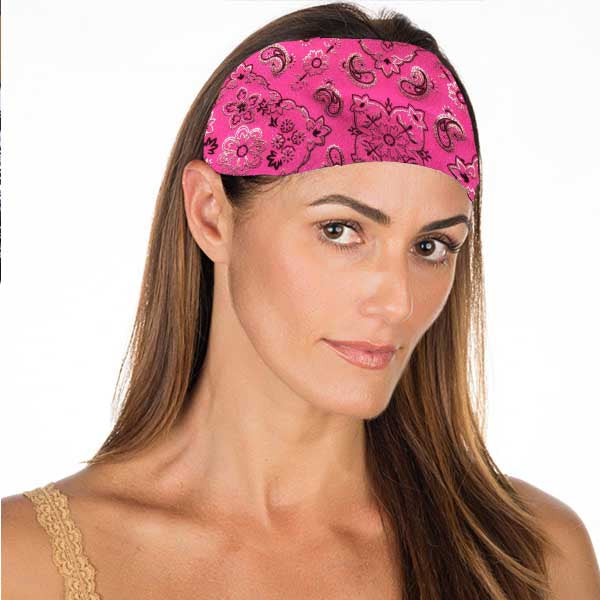 New! Pink Bandana No Slip Headband