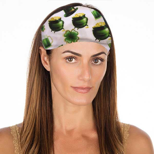 New! St Patrick's Day Pot 'o Gold No Slip Headband