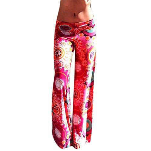 Hot Pink Boho High Waist Loose Fit Leggings