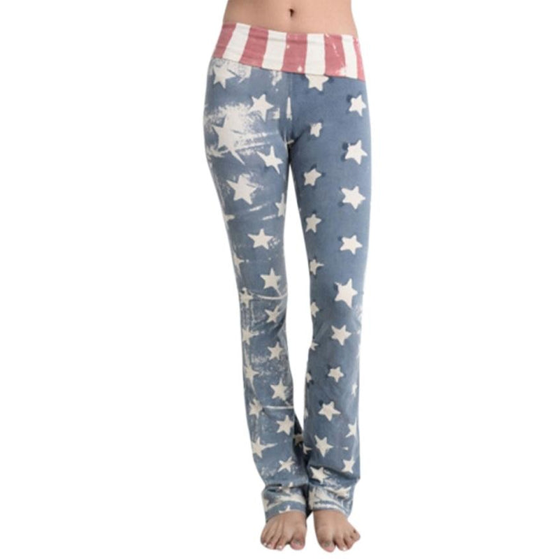 Retro American Flag Loose Fit Leggings