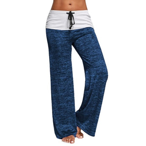 Blue Two Tone Loose Fit Comfy Yoga / Lounge Pants