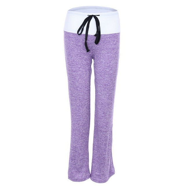 Purple Two Tone Loose Fit Comfy Yoga / Lounge Pants