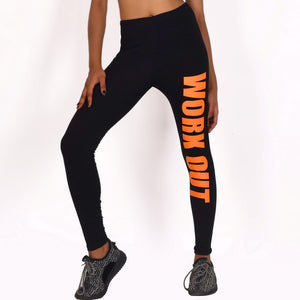 "Black ""WORKOUT"" Leggings"