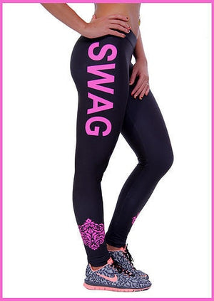 "Black ""SWAG"" Leggings"