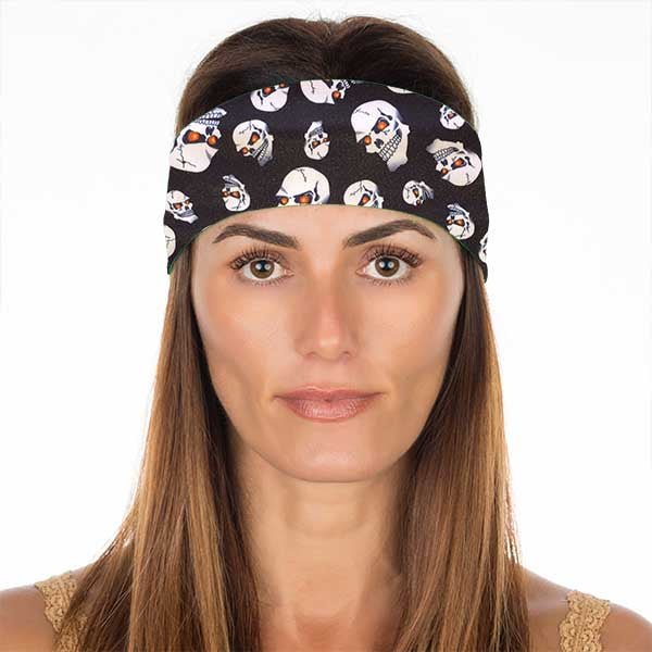 New! Red Eyed Skulls No Slip Headband