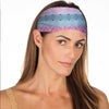 New! Teal Pink Tribal Non Slip Headband