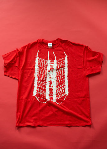 Breast Plate Tee in Red