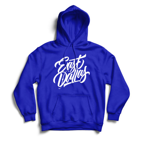 East Dallas Hoodie Blue & White