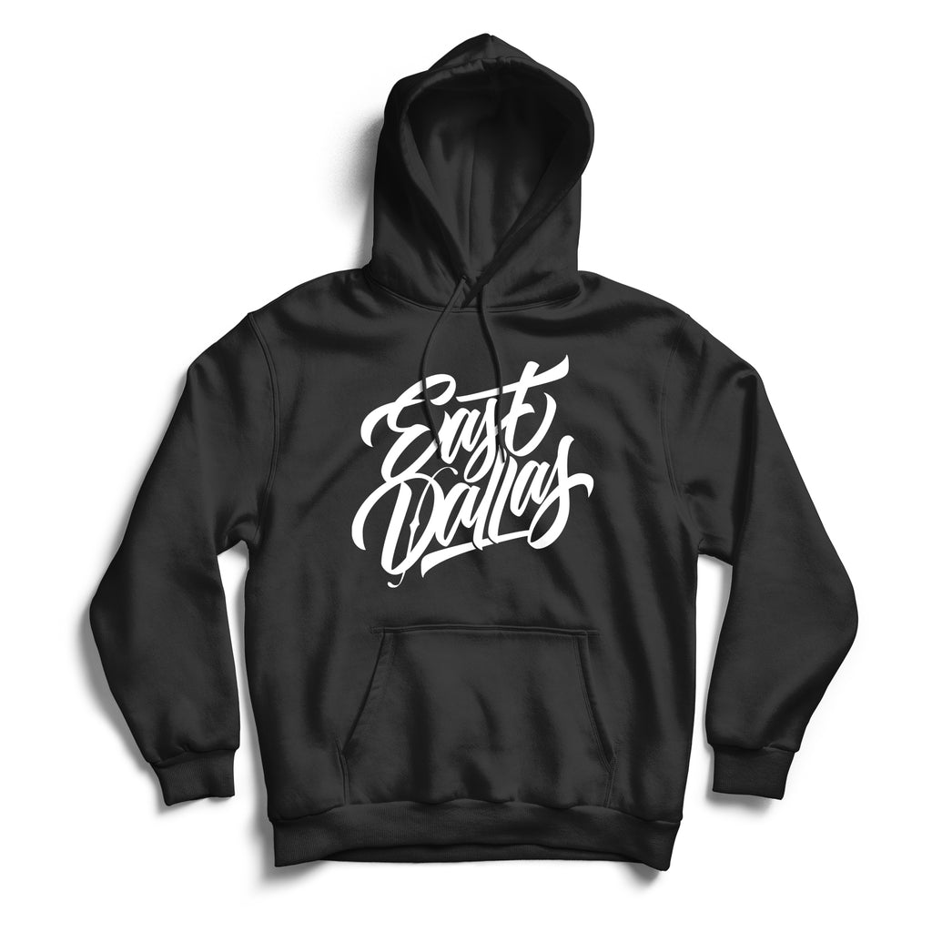 East Dallas Hoodie Black & White