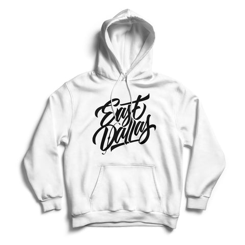 East Dallas Hoodie White & Black