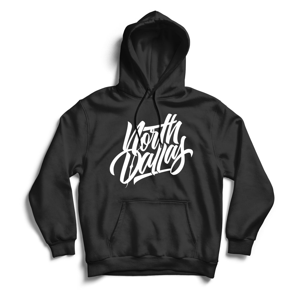 North Dallas Hoodie Black & White