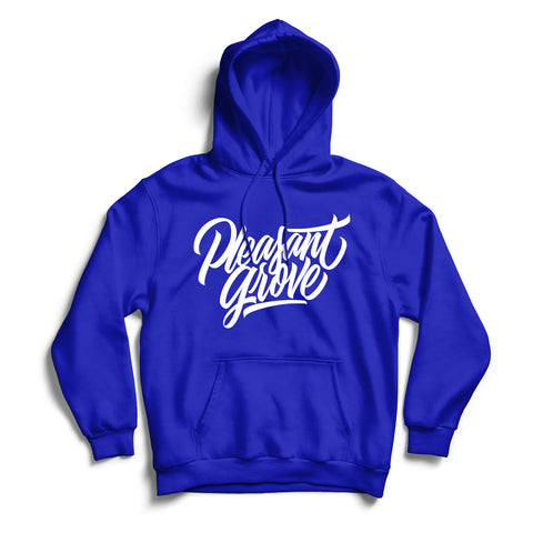 Pleasant Grove Hoodie Blue & White