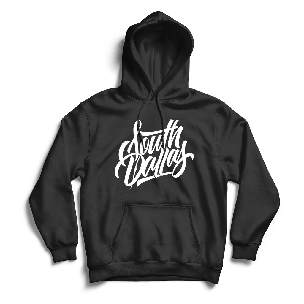 South Dallas Hoodie Black & White