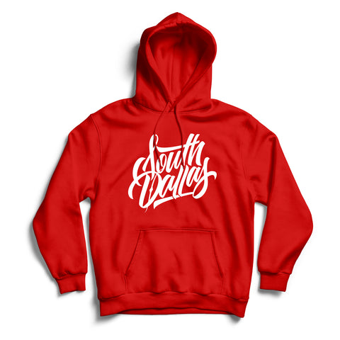 South Dallas Hoodie Red & White