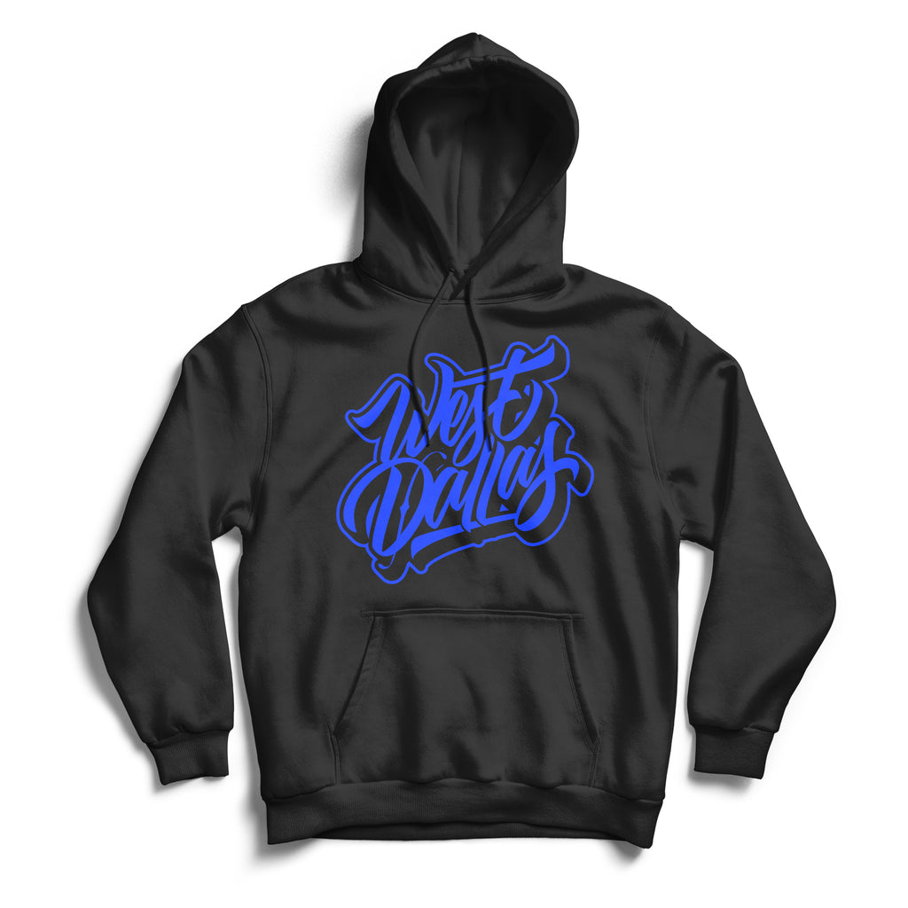 West Dallas Hoodie Black & Blue