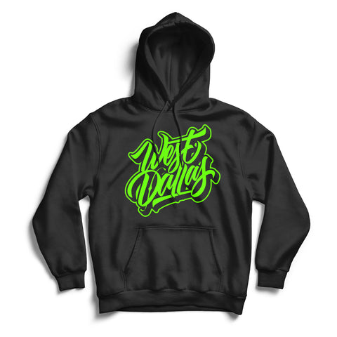 West Dallas Hoodie Black & Green