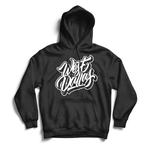 West Dallas Hoodie Black & White