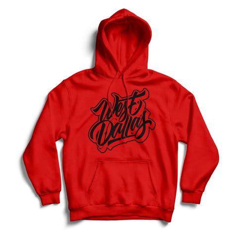 West Dallas Hoodie Red & Black