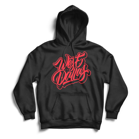 West Dallas Hoodie Black & Red