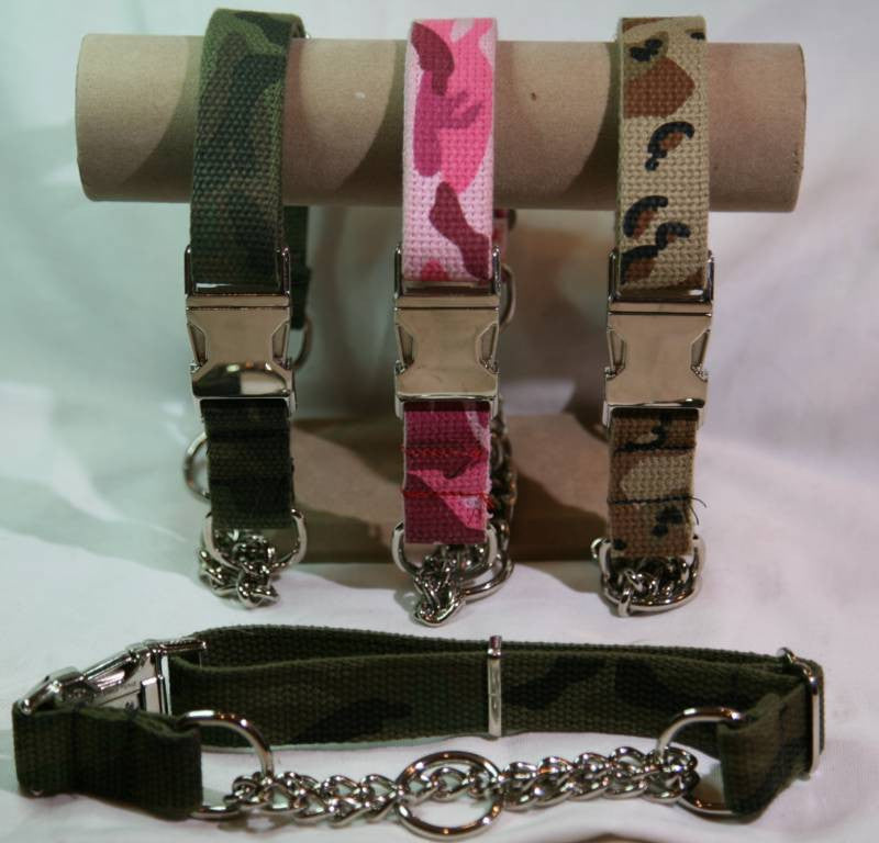 Military Camo Martingale Collar