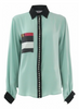 Chenille boutique mint shirt with printed pockets