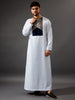 RM19 Modern Casual White Thobe (KIDS SIZES AVAILABLE)