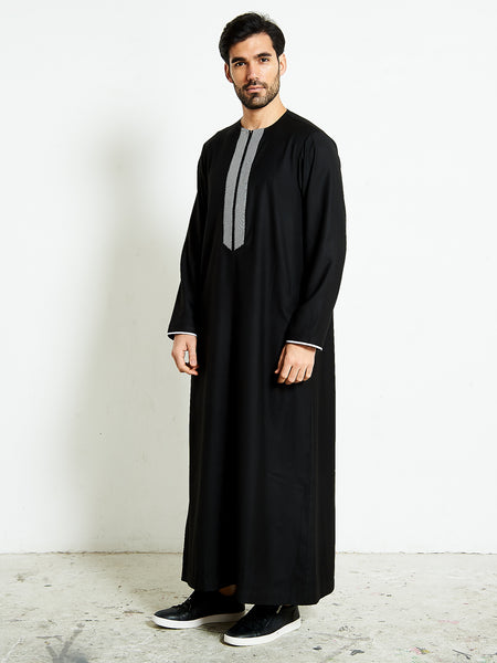 2020 Stylish Black Thobe (jubba)