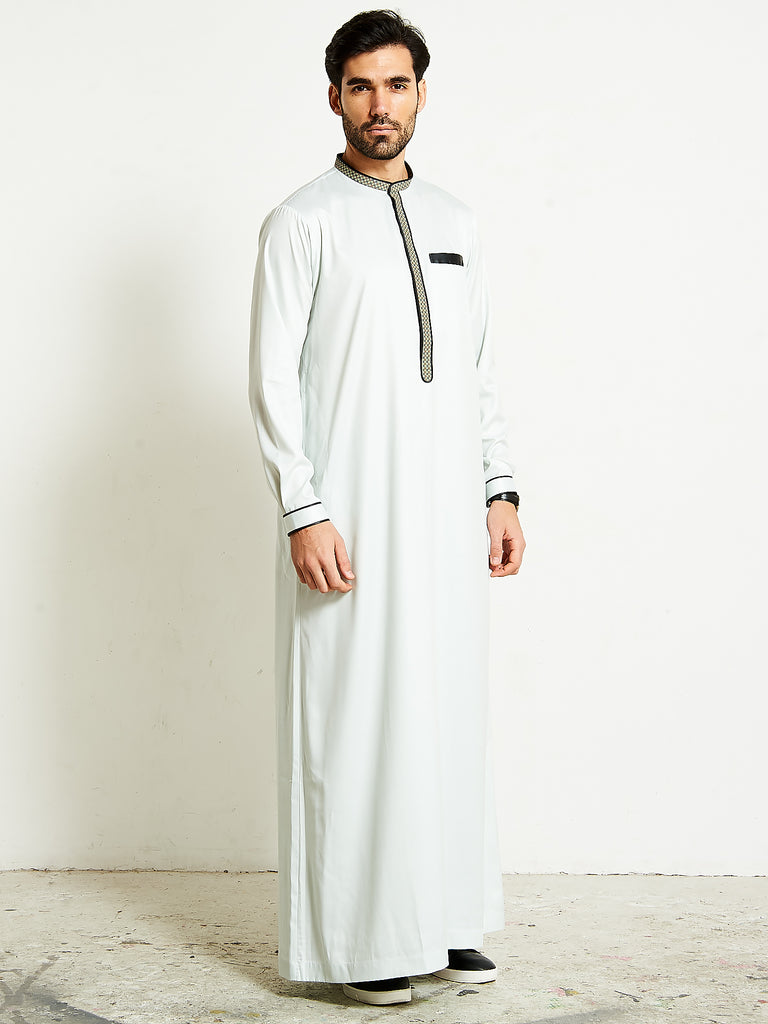 2020 Smart Soft Pistachio Green Thobe (Jubba)
