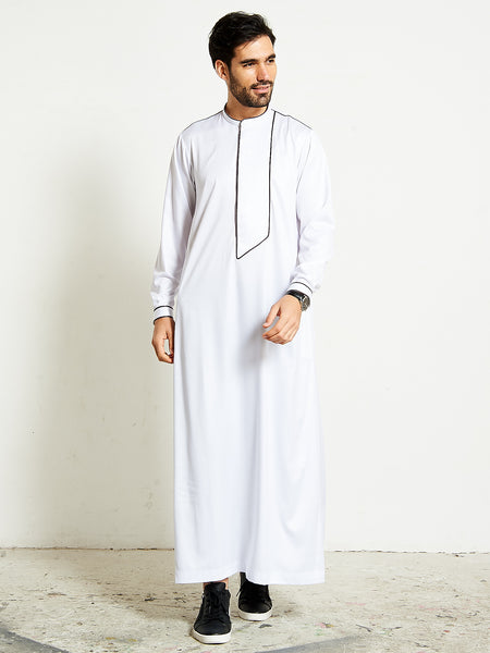 2020 Modern Stylish White Thobe (Jubba)