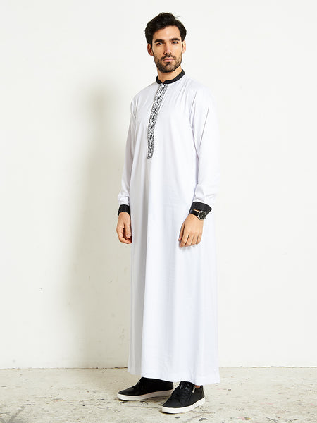 2020 white formal thobe with black 10
