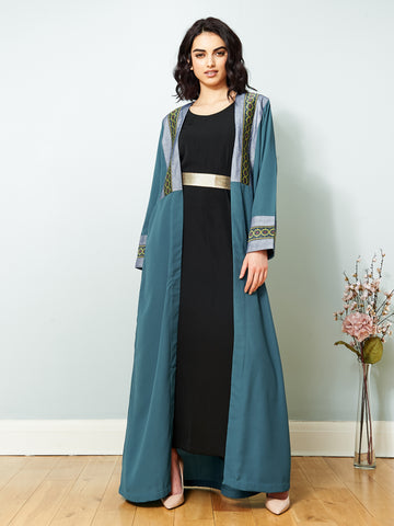 SS19 Teal Open Cape