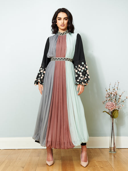 La Scintillate - Trio Coloured MAXI Dress - LOOK 6
