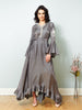 La Scintillate - Maxi Frill Dress with Hand embroidery - LOOK 13
