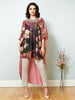 La Scintillate - HI-LO Neck Embroidered Cape with Pants - LOOK 23