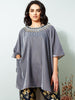 La Scintillate - HI-LO Neck Embroidered Cape with Pants LOOK 22