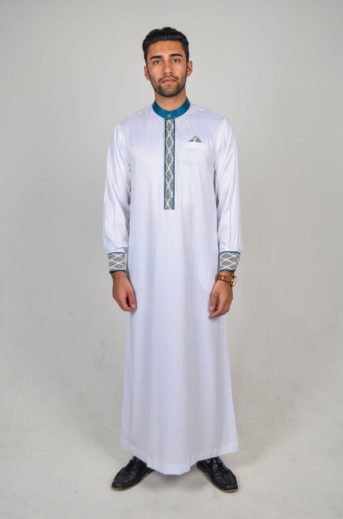 Formal Thobe 18 White / Green